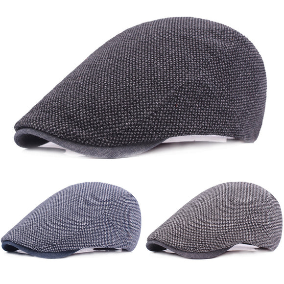 Cotton Berets- Driving Cap_ Simple Casual Vintage Irish Newsboy Hat