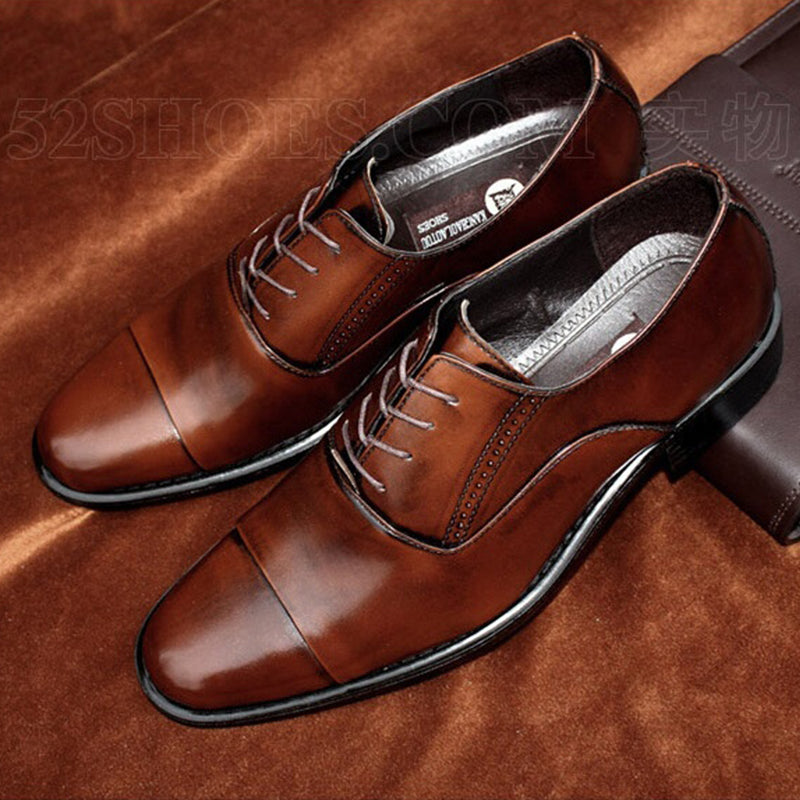 MENS GENUINE SPLIT LEATHER FLAT OXFORDS