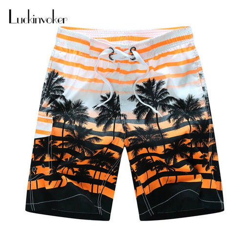 MENS SUMMER LACE-UP QUICK DRY BEACH SHORTS