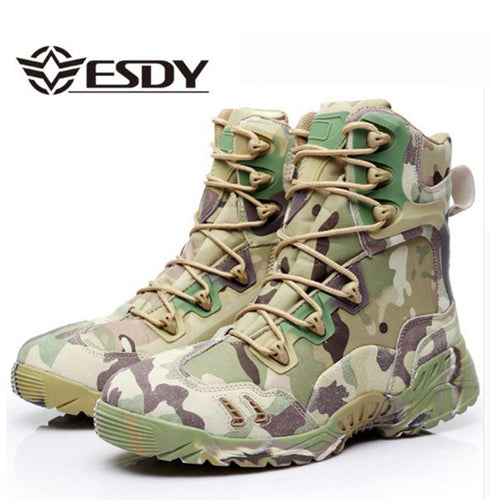 TACTICAL CAMOUFLAGE DESERT STYLE COMBAT BOOTS* (6-12)