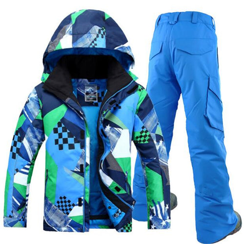 MENS ULTRAVIOLET WATER/WINDPROOF WEAR RESISTANT SKI SUIT