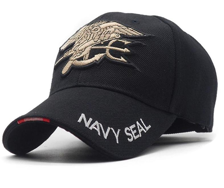 MENS US NAVY SEAL TACTICAL TEAM EMBROIDERED BASEBALL CAP