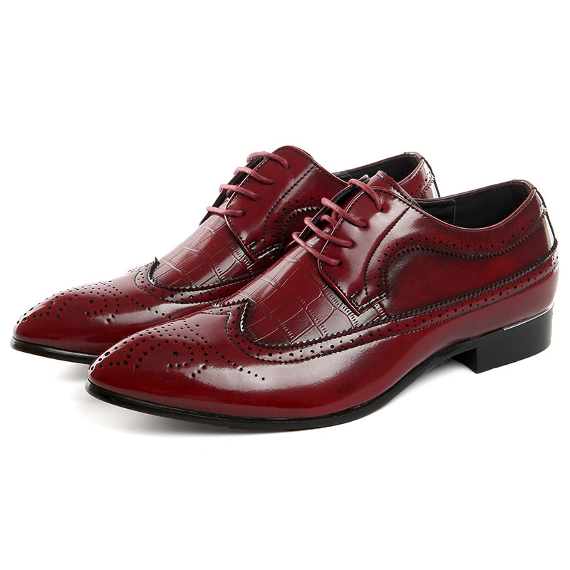 MENS MISALWA BRAND CASUAL LEATHER FORMAL BROGUE SHOES