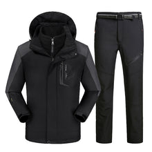 Load image into Gallery viewer, MENS WATERPROOF/WINDPROOF HOODED THERMAL SKI SUIT