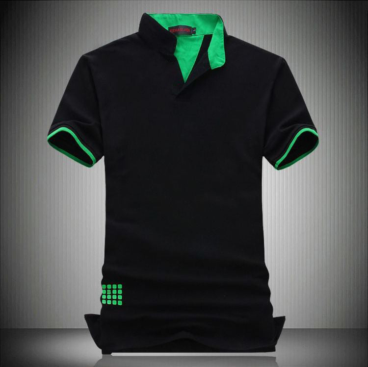 MENS SHORT SLEEVE SLIM FIT SOLID PATTERN POLO* (One Size-4XL)