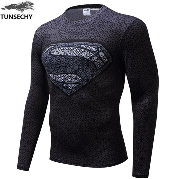 MENS SUPERHERO FITNESS/TRAINING LONG SLEEVE COMPRESSION TOPS