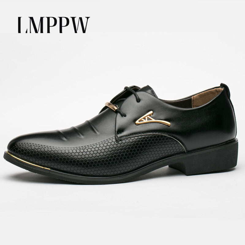 MENS LEATHER BRITISH STYLE MENS DRESS SHOES