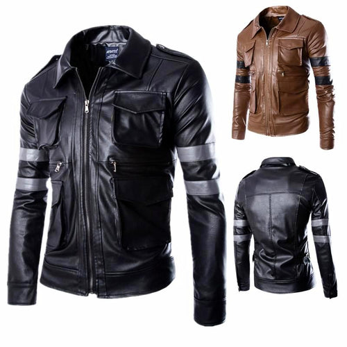 Men's Leather Motorcycle Jacket*