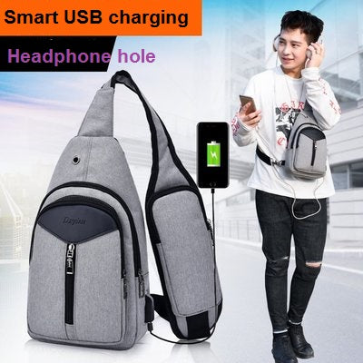 USB Charging Crossbody Sling Bag