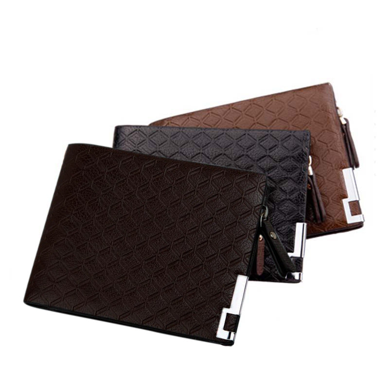 Multi-function Wallet- Leather Zipper Business Wallet Card Holder