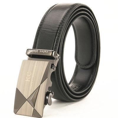Leather Automatic Buckle Belt Waist Strap