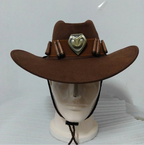 Cowboy Hat Prop Copper Badges Collection Cap