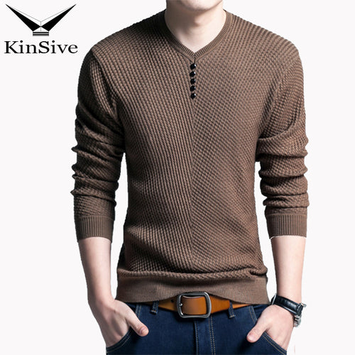 KINSIVE Solid Color Cashmere Button Up Pullover Sweater* (M-3XL)