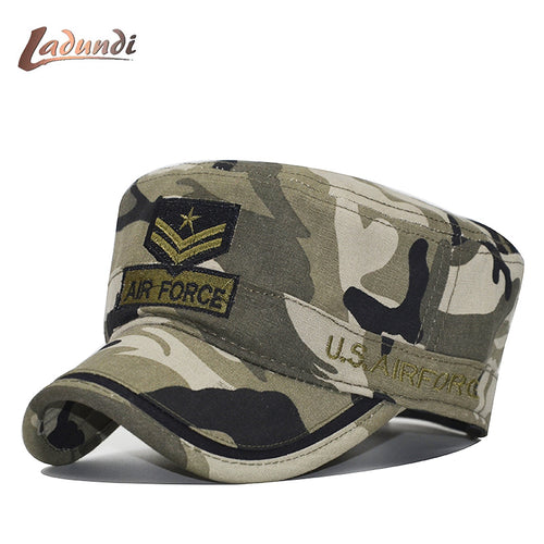 U.S. Low Profile Embroidered AIR FORCE Camo Hat