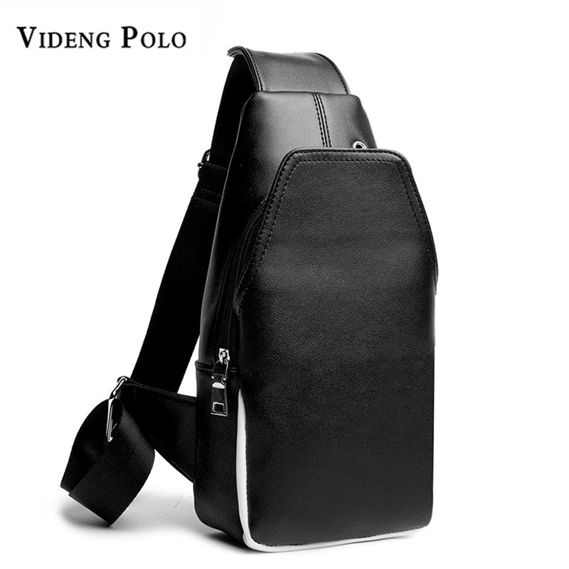 VIDENG POLO High Quality Leather Sling Crossbody Messenger Bag*