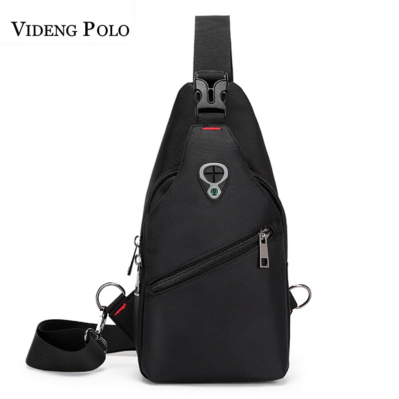 VIDENG POLO Waterproof Polyester Oxford Messenger Bag