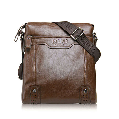 VIDENG POLO Mens Classic Leather Casual Crossbody Messenger Bag*
