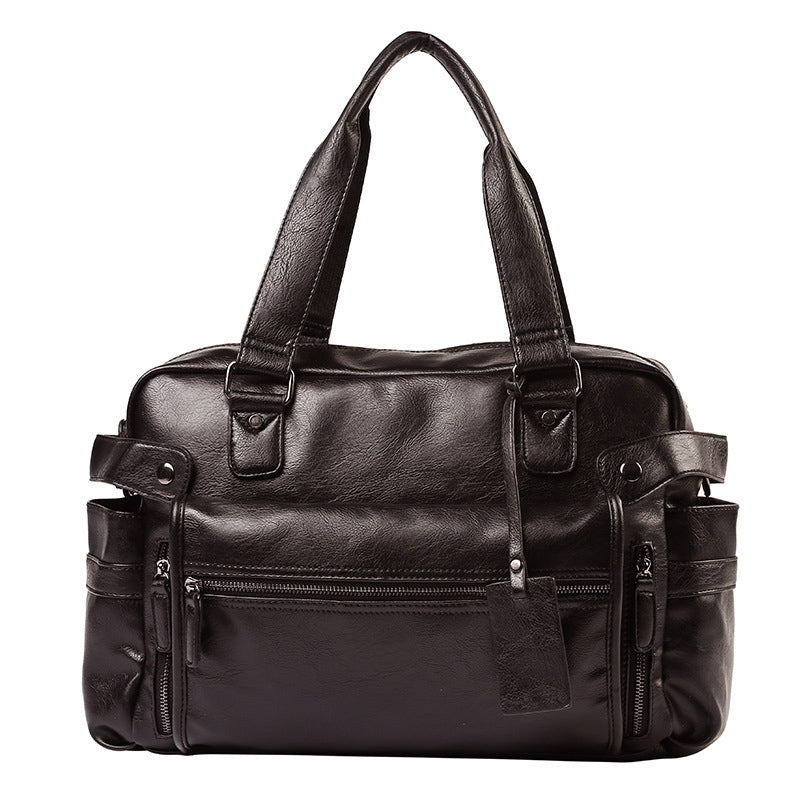 +VIDENG POLO Large Capacity Leather Travel Tote*