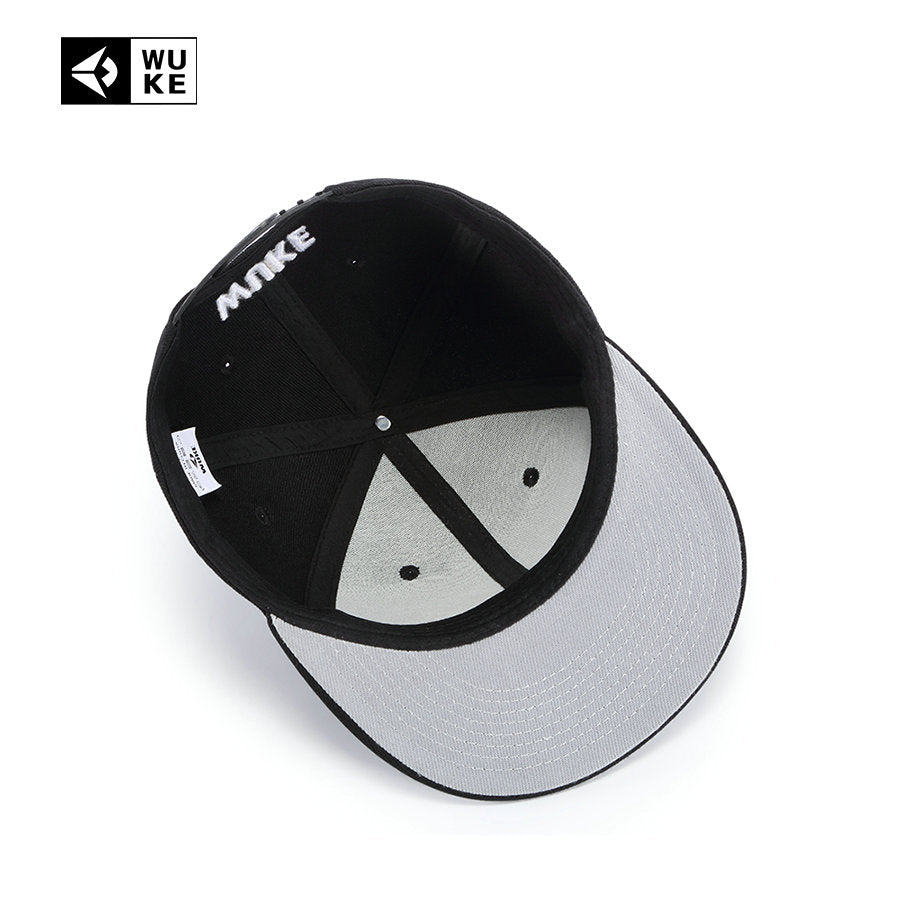 NEW FLAT BRIM TEETH EMBROIDERED FITTED SNAPBACK HAT