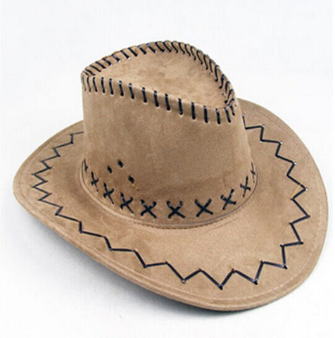 8b32a8c9188a1 Western Cowboy Hat- Fashionable Travel Hats For Women and Men  Classic Faux  Leather Felt Hat