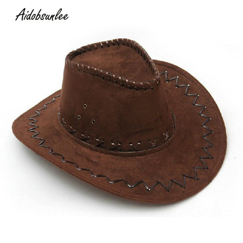 Western Cowboy Hat- Fashionable Travel Hats For Women and Men_ Classic Faux Leather Felt Hat