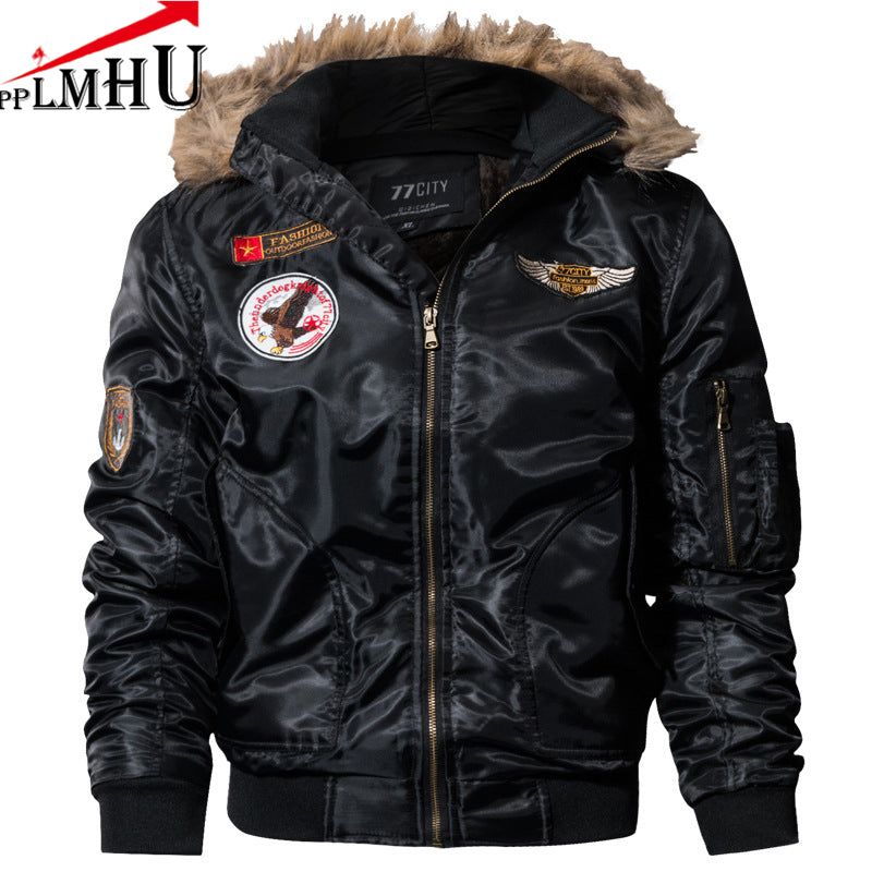 Winter MA1 AIR FORCE Pilot Bomber Jacket