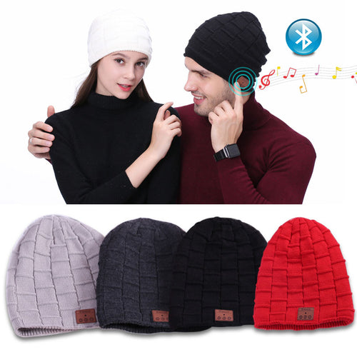 Bluetooth 4.1 Headphone Beanie Knit Cap w/Stereo Speakers Wireless Microphone