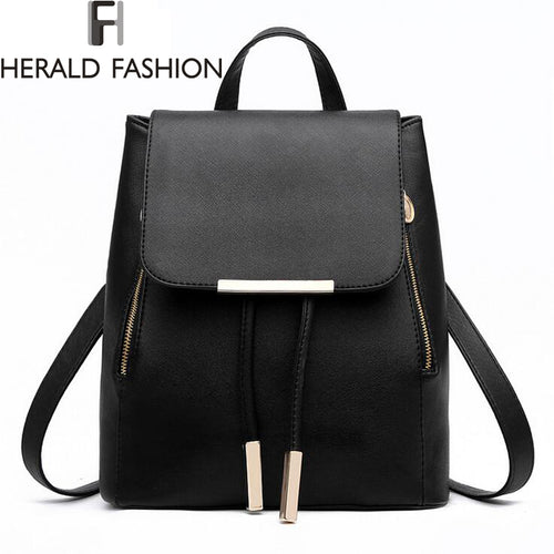 Girls Herald Fashion Top-Handle Leather Backpacks