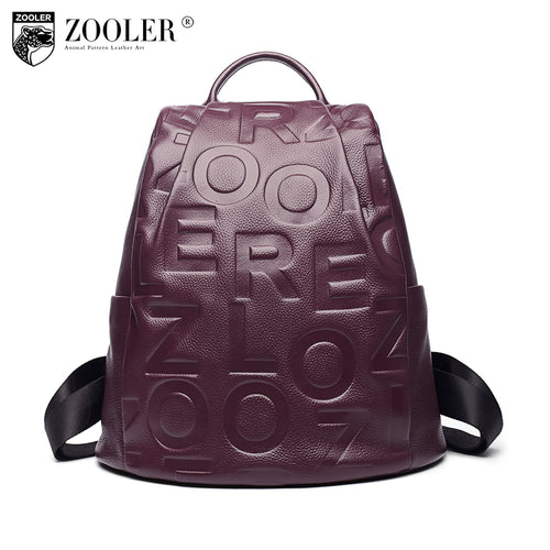 LADIES GENUINE LEATHER EMBROIDERED BACKPACK*