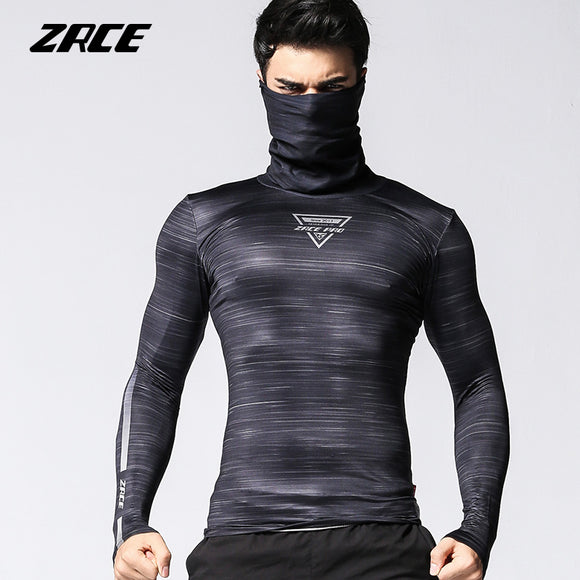 MENS BREATHABLE NOVELTY PRINT COMPRESSION TOP W/SCARF