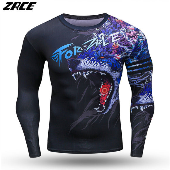 MENS BREATHABLE DRY FIT ELASTIC TRAINING COMPRESSION TOP