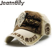 Load image into Gallery viewer, Vintage Style Adjustable Letter Print Baseball Hats