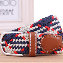 Load image into Gallery viewer, Mens Casual Elastic Canvas Braided Belt