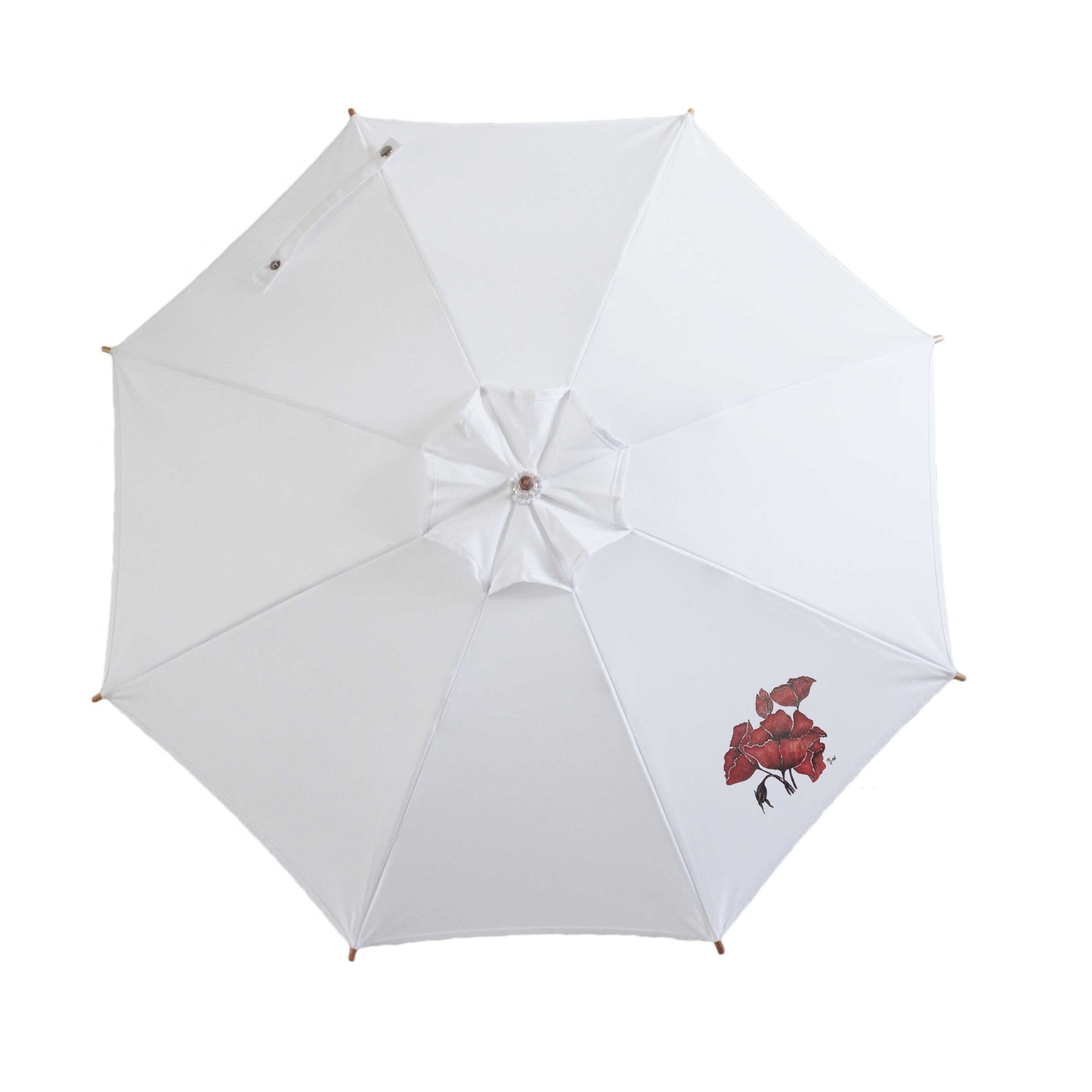 Compact Cosmopolitan Sun Umbrella, Poppy Limited Edition.