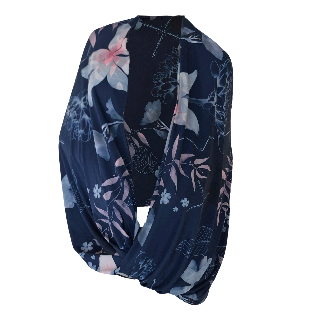 SunStyle Wrap UPF50+, Watercolour Navy Tropics