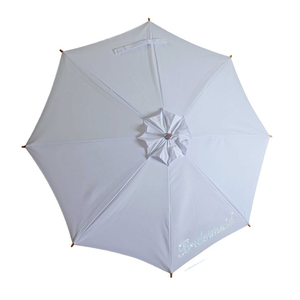 Sunbella Sun Parasol Duchess Sun Parasol - White, Embellished with Bridesmaid
