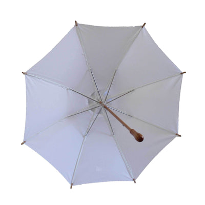 Sunbella Sun Parasol Duchess Sun Parasol - White, Embellished with Mr and Mrs