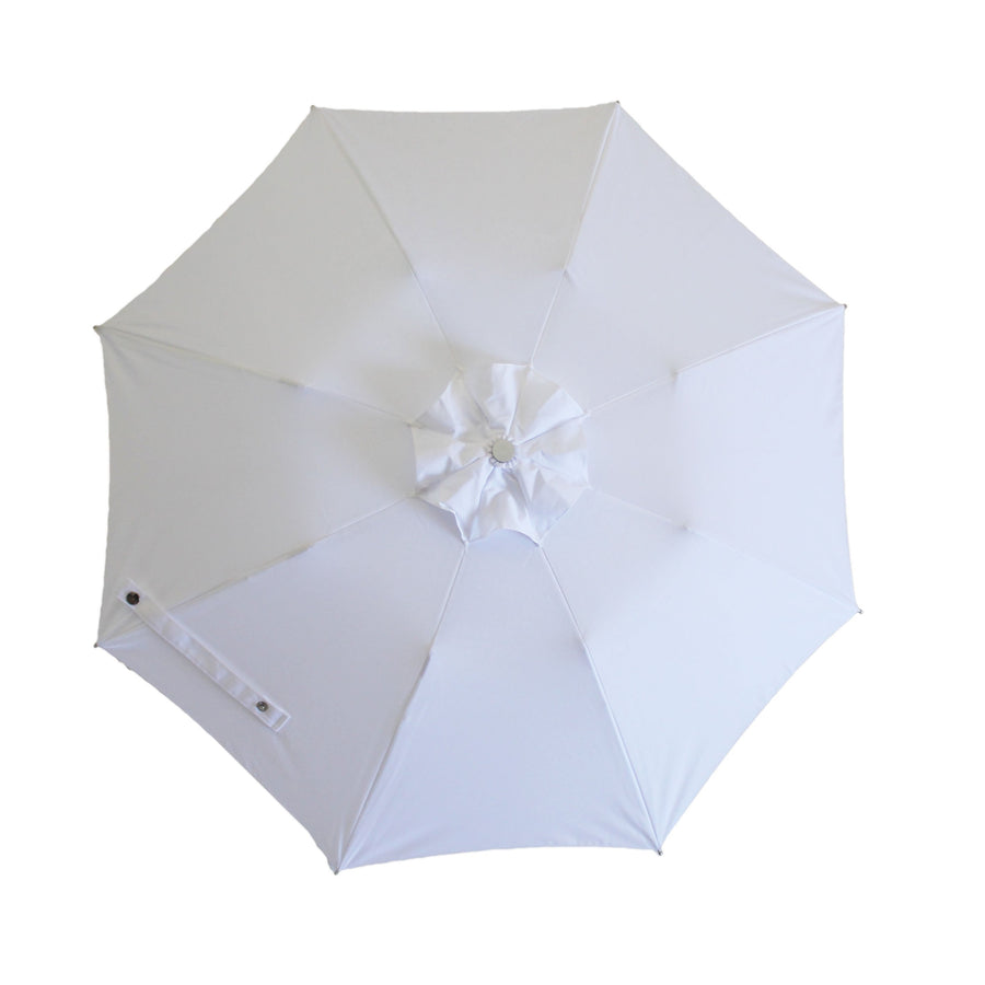 City Luxe Sun Umbrella - White