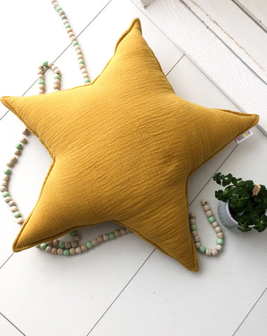 Sage star IV - mustard pillow