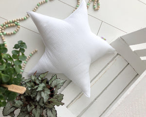 sage star II - white pillow