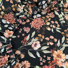 Flower power on black - fitted sheet, hoeslaken