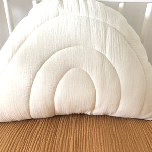 Ecru rainbow - muslin rainbow pillow