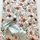 Field flowers - box rug (boxkleed), baby play mat,