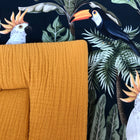 THE TROPICAL FOREST & mustard - box rug (boxkleed), quilt baby blanket,play mat