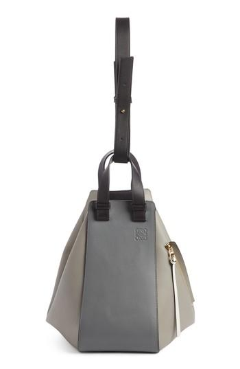 Loewe Large Grey Colorblock Hammock Shoulder Bag