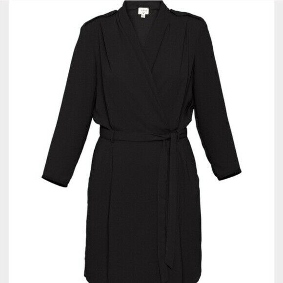Aritzia Wilfred Womens Size 2 Dress Franca Wrap Japanese Crepe SOLD OUT NWT $175