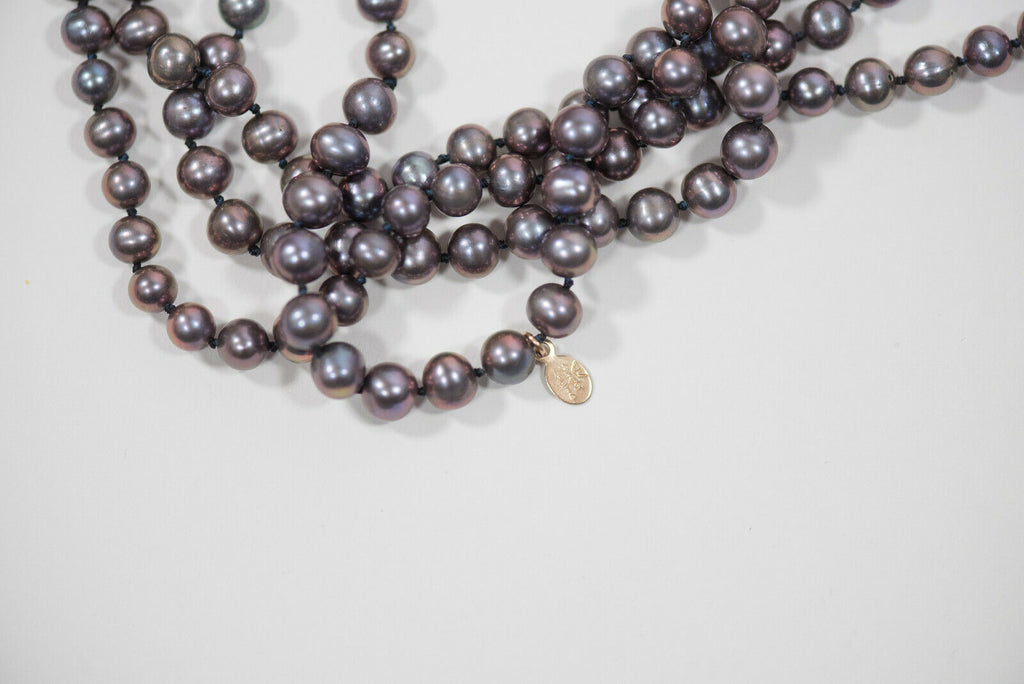 Simply Sublime Purple Freshwater Pearl Necklace