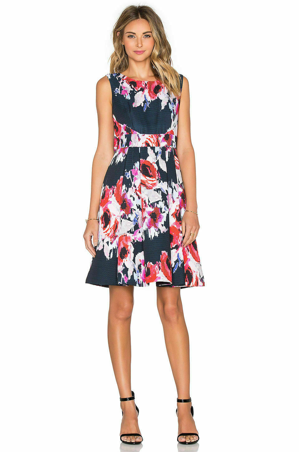 Kate Spade Womens Size 0 Blue Pink Hazy Floral Dress