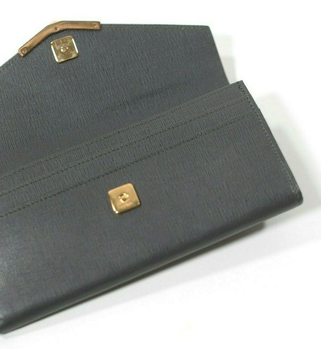 Fendi Womens Medium Pink Grey Bicolor 2Jours Leather Wallet Authentic MSRP $650
