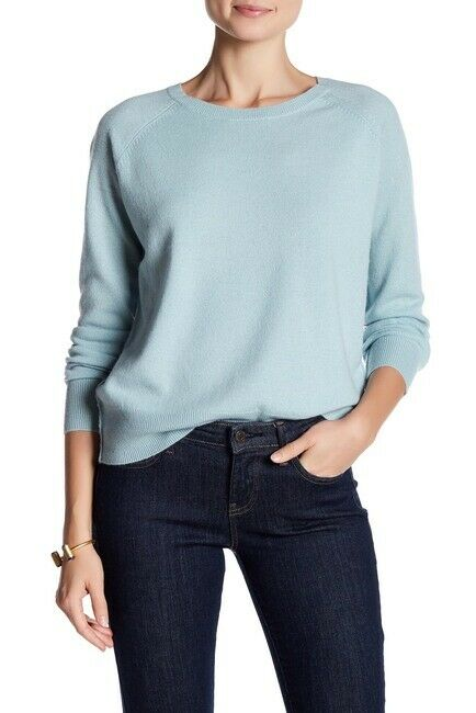 Skull Cashmere Medium Blue Amber Sweater